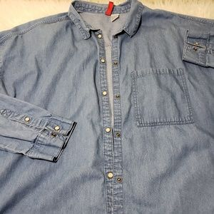 Men's Denim Button Down